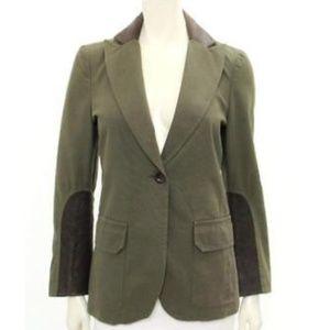 VANESSA BRUNO Cotton Blazer with Leather